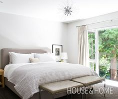 Photo Gallery: Rosie Daykin's House | House & Home floor to ceiling window in upstairs bedroom