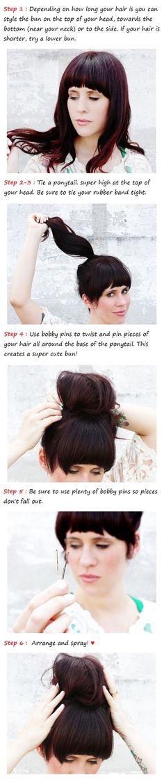 messy bun tutorial | Beauty Tutorials #beauty #hairstyles #hair