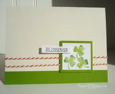 "Amped2Stamp - And here is one of Deb""s adorable handcrafted St. Patrick's Day cards!"