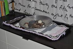centrotavola, uncinetto, filato, riciclato, t-shirt, canottiere, colorato, crochet,