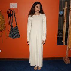 organic long sleeve nightgown / dress / pajamas 100% von xusah