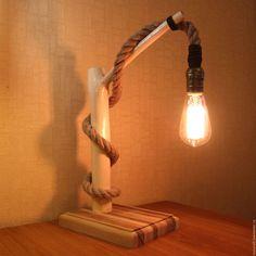 Купить Светильник из ветки в стиле лофт - светильник, рустик, ручная работа, деревянный светильник, Декор