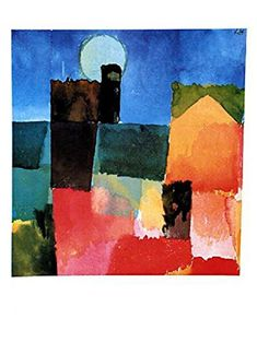 Posters: Paul Klee Poster Art Print - Moonrise Over St. Germain, 1915 (32 x 24 inches): Amazon.ca: Home & Kitchen