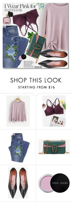"""""""Who Do You Wear Pink For?"""" by svijetlana ❤ liked on Polyvore featuring Bobbi Brown Cosmetics, Victoria's Secret, breastcancerawareness and shein"""
