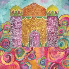 Fairytale Palace Original Watercolor by Megan Noel by meinoel