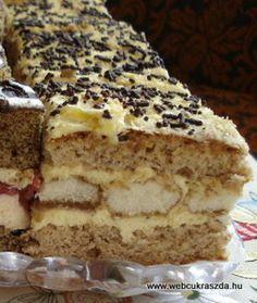 Rumos-diós kocka Hungarian Desserts, Hungarian Recipes, Hungarian Food, Poppy Seed Cookies, My Recipes, Cooking Recipes, Poppy Cake, Cake Bars, Sweet And Salty