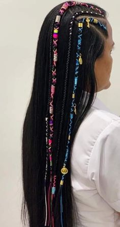Baddie Hairstyles, Braided Hairstyles, Cool Hairstyles, Hair Threading, Hippie Hair, Crazy Hair, Hair Designs, Hair Hacks, Hair Clips