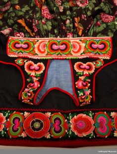 Hallingbunad - Hallingdal Museum / DigitaltMuseum Folk Costume, Costumes, Color Shapes, Cute Designs, Folklore, Norway, Scandinavian, Needlework, Museum