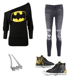 """""""Bitman"""" by jayraywolf on Polyvore featuring Converse and J Brand"""