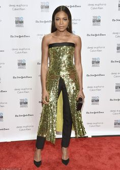 Golden girl: Naomi Harris in Monse attends IFP's 26th Annual Gotham Independent Film Awards on November 28, 2016
