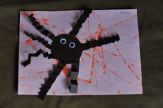 Halloween craft, spider and web