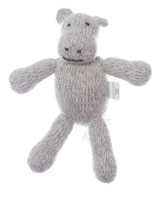 Hippo made from soft Peruvian alpaca {The Little Market}