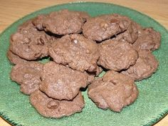 double chocolate chip cookies...crunchy with a soft center and overflowing with chocolatey deliciousness