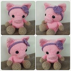 And this little pig is all done! Such a fun order to make!!   #crochet #amigurumi #crochetanimal #pig #crochetpig #farmanimal #weamigurumi #crochetersofinstagram #instacrochet #ilovecrochet #etsy #etsyseller #etsyshop #handmade #makersgonnamake #makersofwv #theresascrochetshop by theresascrochetshop