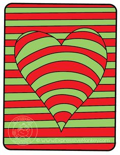 Op Art Hearts Color Study by Expressive Monkey. Color Complements