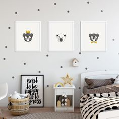 The Bear Brothers prints are printed on high-quality paper. Simply add a frame or magnetic sticks. This set contains 3 prints. Brother, Range, Bear, Interior, Prints, Home Decor, Cookers, Decoration Home, Room Decor
