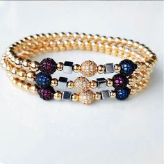 Bracelets By Vila Veloni Lovely Zinrconia And Pellets