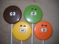 1 chocolate face monster fangs inspired lollipops lollipop favor | sapphirechocolates - Edibles on ArtFire