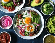 Sunny organic eggs with gorgeous golden yolks on warm, toasty tortillas bathed in salsa? Huevos Rancheros is a classic breakfast dish that's hearty and healthy, and so good you'll want to eat it for lunch and dinner, too Lunch Snacks, Lunches And Dinners, Meals, Egg Recipes, Lunch Recipes, Churro French Toast, Huevos Rancheros, Organic Eggs, Breakfast Dishes