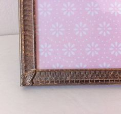 Vintage Gold Picture Frame 5x7 Metal Photo Frame by RetroTiles #rustic #steampunk #antique