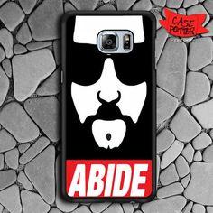 Big Lebowski The Dude Abide Samsung Galaxy S6 Edge Plus Black Case