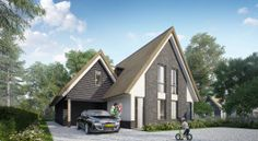Aanbod bouwkavels Dutch Netherlands, Holland House, Contemporary Barn, Thatched Roof, House Roof, Home Builders, Shed, Villa, New Homes