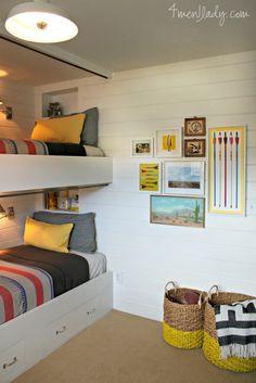 Boys bunk room makeover.