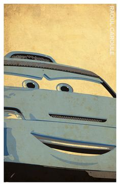 Cars Inspired Poster Set Mcqueen Mater Minimalistic Grunge
