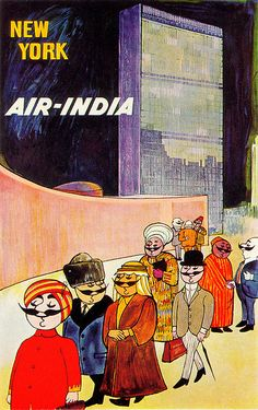 Air India New York Poster