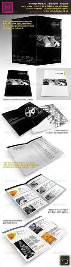 Product Catalogue In Design Template - Catalogs Brochures