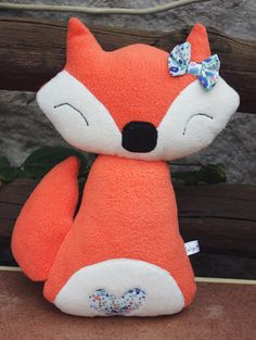 Fiona Fox Orange Soft Plushie Toy by TulipDesignsShop on Etsy