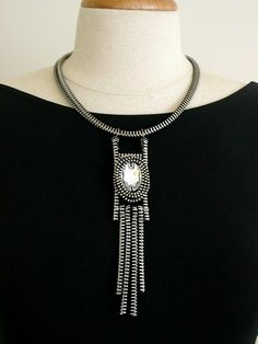 The Tilseltown Zipper Necklace by ReborneJewelry on Etsy