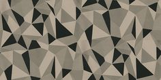 Prism Flock - Onyx (1975/905) - Prestigious Wallpapers - A random design of triangles- like shattered glass, in shades of taupe brown and rich ebony black velvet flock.  Paste the wall. Please request sample for true colour match.