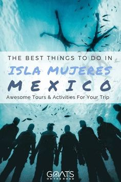 Planning a trip to Mexico? Be sure to put Isla Mujeres on your list! From relaxing on the beach at Playa Norte, to snorkeling with whale sharks, or exploring the island and ruins by golf cart, you won't be short on fun activities. Check out our guide on t Mexico Vacation, Mexico Travel, Merida, México Riviera Maya, Stuff To Do, Things To Do, Holidays To Mexico, Romantic Vacations, Romantic Travel