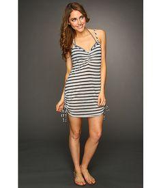 Vitamin A Silver Swimwear Silver Spaghetti Dress Cover-up