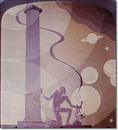 Aaron Douglas, Science, Symbolic Negro History Series, 1930.  oil on canvas.
