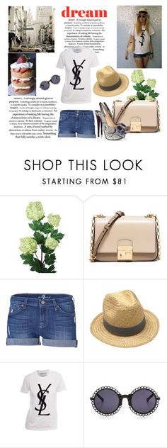 """""""#Panama Hat"""" by linefreh ❤ liked on Polyvore featuring Laura Cole, Michael Kors, 7 For All Mankind, Christian Louboutin, Petit Bateau, Yves Saint Laurent, Preen, women's clothing, women's fashion and women"""