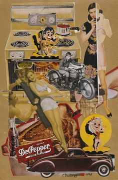 Eduardo Paolozzi - Dr Pepper Brutalism: Demand for ultimate reality in art and design; brutal rejection of all conceptual, theoretical litterary looks and romanticist immanency inwhich Pop is born with all it's freshness. Collages, Collage Artists, Robert Rauschenberg, Jasper Johns, Art Pop, Cultura Pop, Andy Warhol, Dr. Pepper, Richard Hamilton
