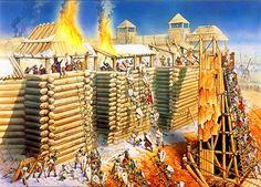 Teutonic army besieging a Lithuanian fort, Baltic Crusade