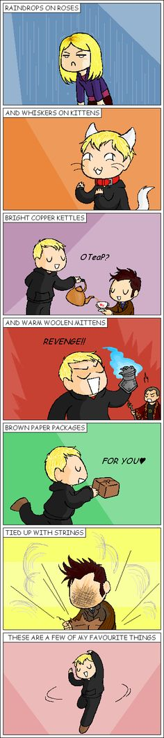 The Master's Favourite Things by AqueousSerenade on deviantART. This is hilarious.