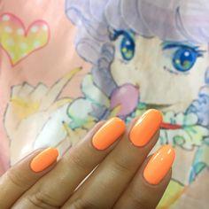 Thousand Island - neon peach pop! Flouro vibes in 2 coats - 10 free , vegan and cruelty free nail polish .