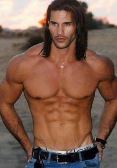 Brock O 'Hurn , shirtless-long-haired-gay-twink-model-actor-outdoors-muscle-hunk-bodybuilder-jeans-calvin-klein-latino. Hot Men, Hot Guys, Black Dagger Brotherhood, Hommes Sexy, Raining Men, Good Looking Men, Male Beauty, Bodybuilder, Gorgeous Men