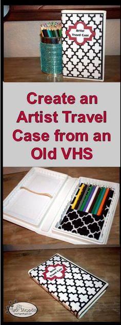 Create an Artist Travel Case from and Old VHS #TigerStrypesBlog