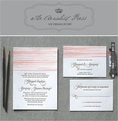 watercolor wedding invitation | VIA #WEDDINGPINS.NET