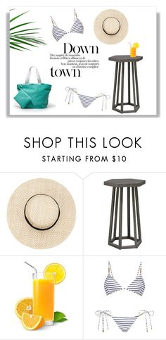 """""""Sunny Summer Days"""" by laras03 ❤ liked on Polyvore featuring Palecek and Melissa Odabash"""