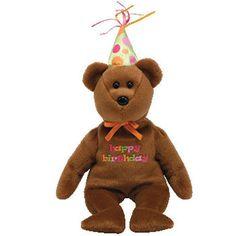 878e1de7d86 Ty Beanie Babies Happy Birthday Bear Plush Stuffed Animal Party Hat 2008  Toy