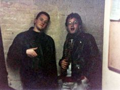 a young Louis CK and Marc Maron-Just Kids Funny People, Good People, Marc Maron, Louis Ck, Seriously Funny, Stand Up Comedy, Back In The Day, Friends Forever, Hanging Out