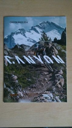 Front cover of canyon bikes 2014 brochure