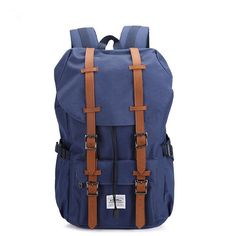 Canvas Nylon Outdoor Travel Hiking Backpack Laptop Schoolbag for Men and Women