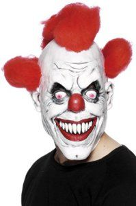 Smiffys – Masque Clown Effrayant Avec Cheveux